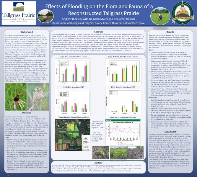 Effects of flooding on the flora and fauna of a reconstructed tallgrass prairie