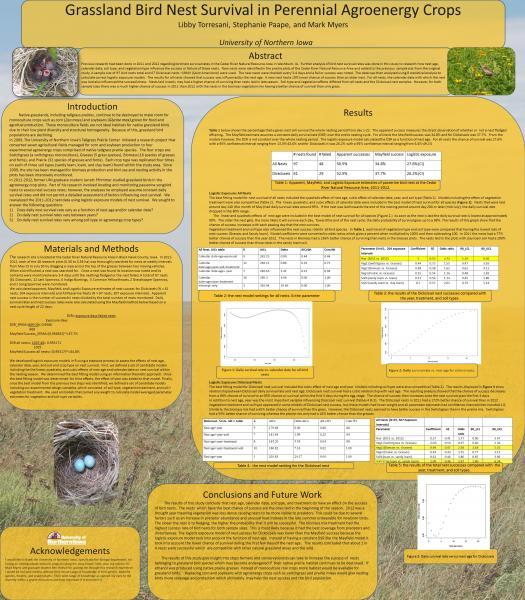 Grassland bird nest survival in perennial agroenergy crops